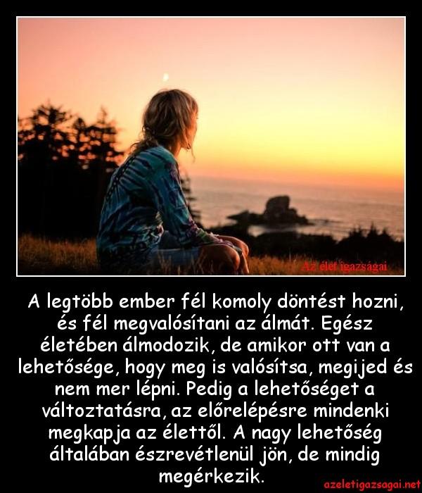 lehetőség mint élet)