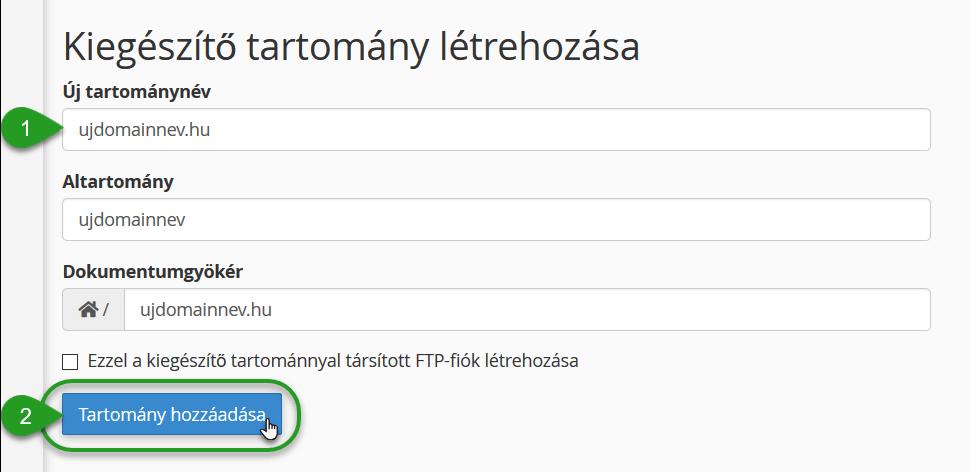 tartomány opció)