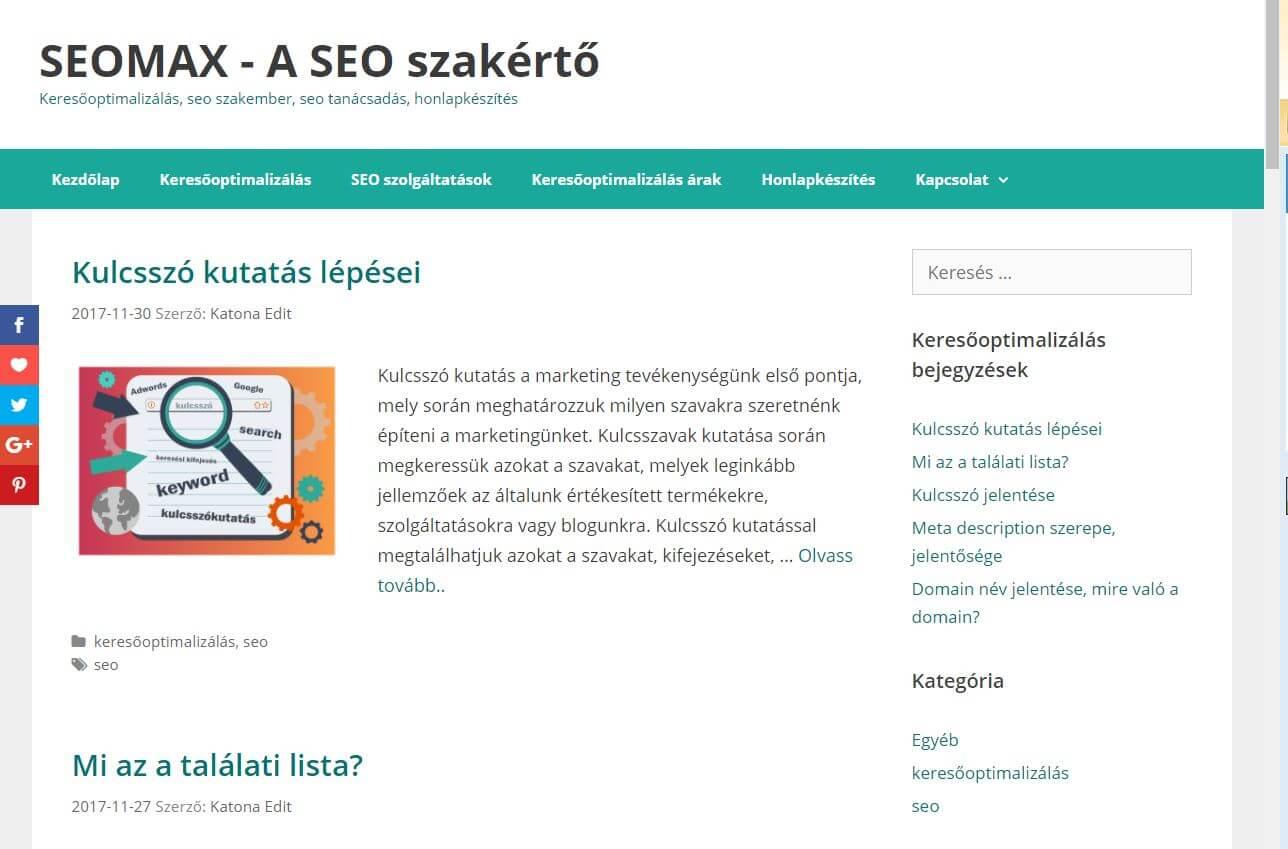 online kereső webhelyek listája)
