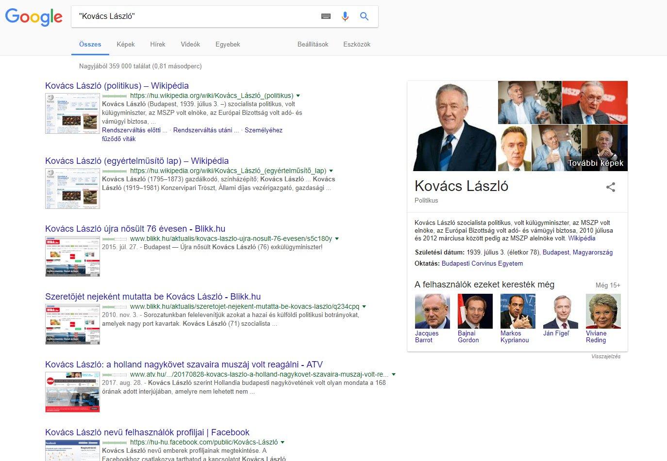 online kereső webhelyek listája