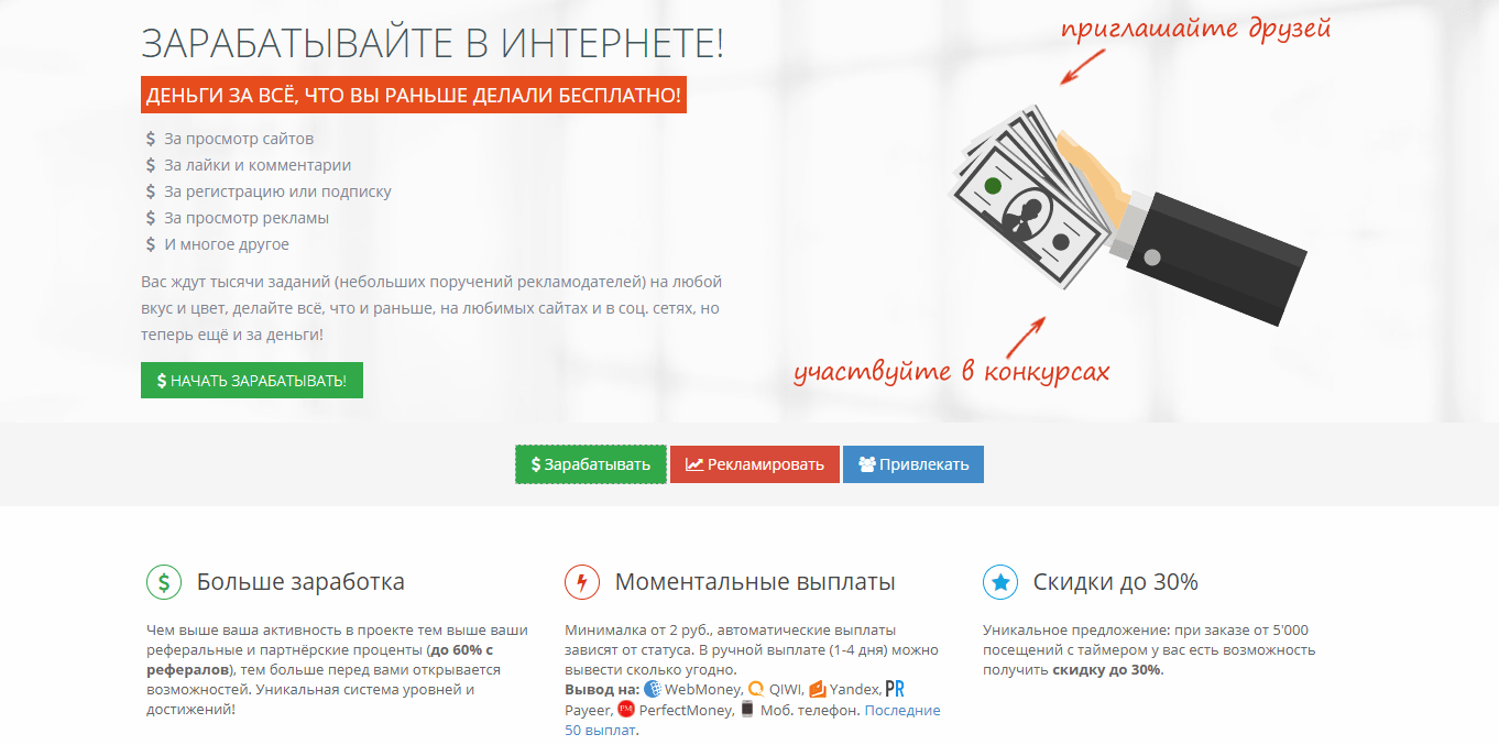 pénzt keresni az interneten befektetések nélküli webhelyek listája)