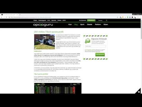 példák opciós kereskedési videókra)
