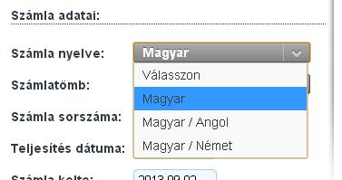 bemutató fogadási számla)