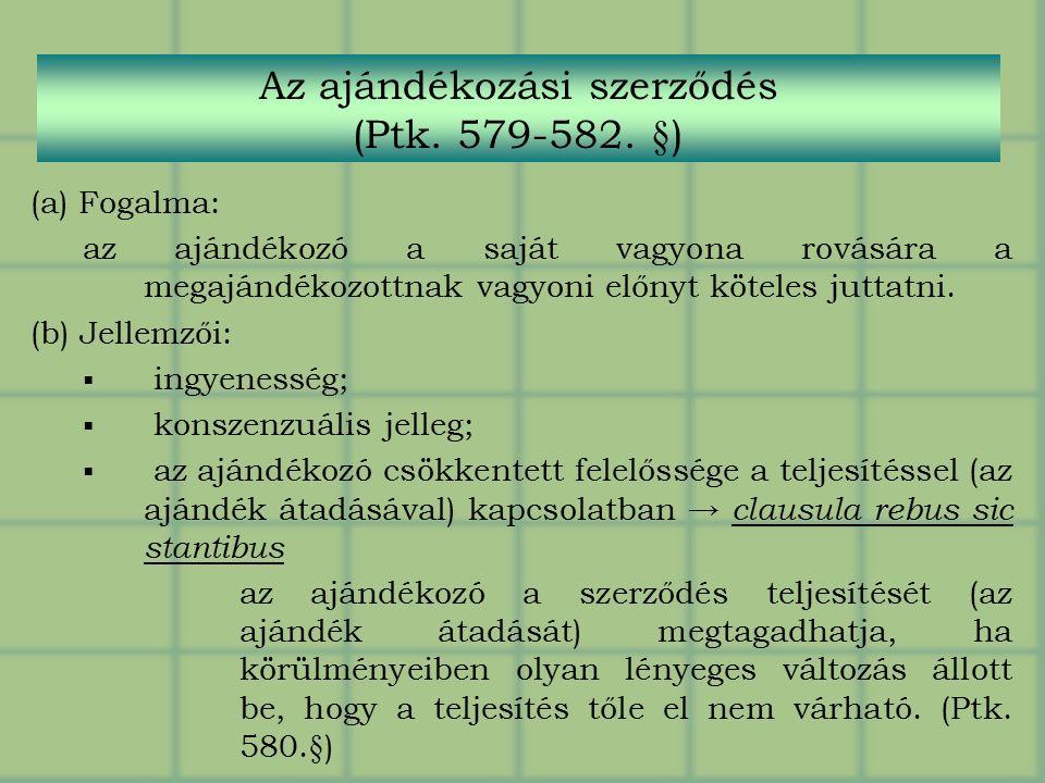 egy szerződés opciójának fogalma)