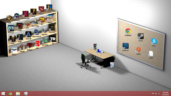 élő háttérkép az asztali kereskedelemben