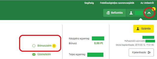 opciós bónusz regisztrációkor)