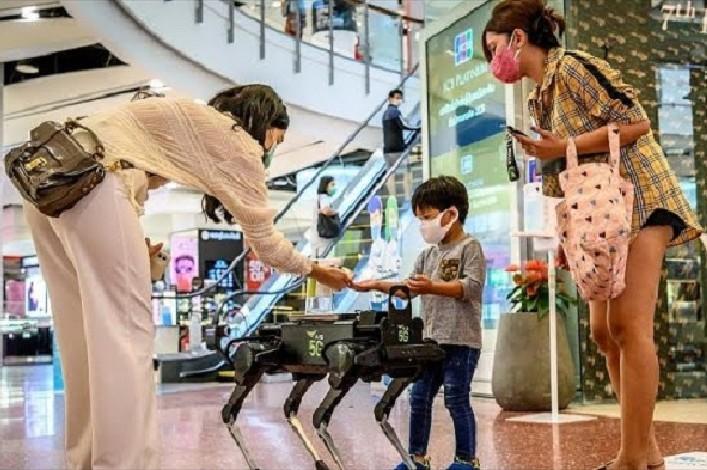 robot bevásárlóközpont videó