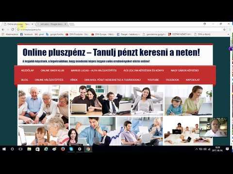 weboldalon pénzt keresni online