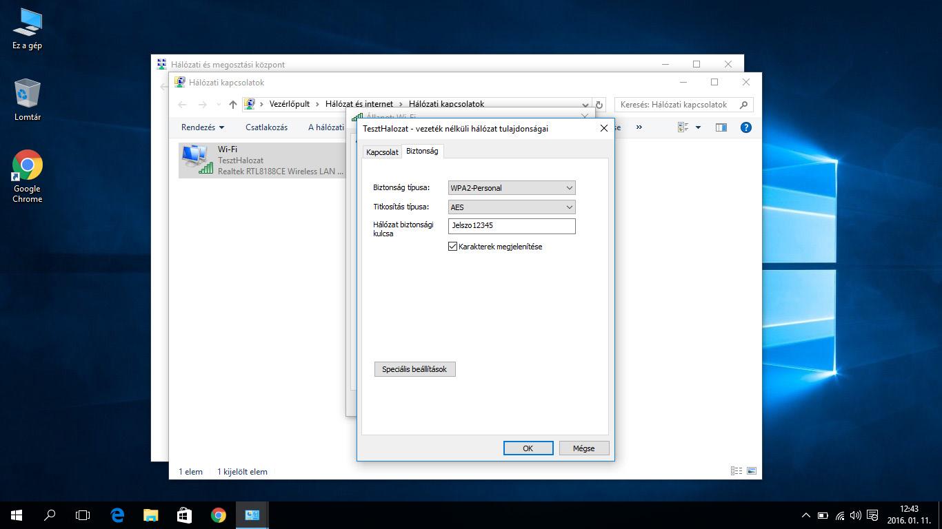 Biztonsági beállítások konfigurálása
